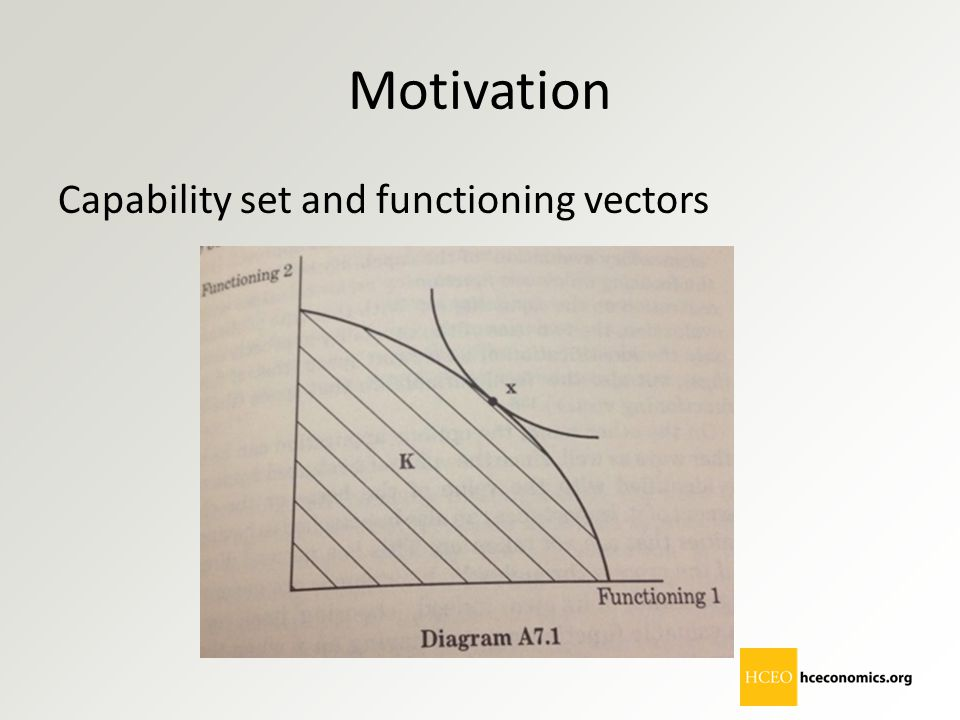Motivation Capability set and functioning vectors