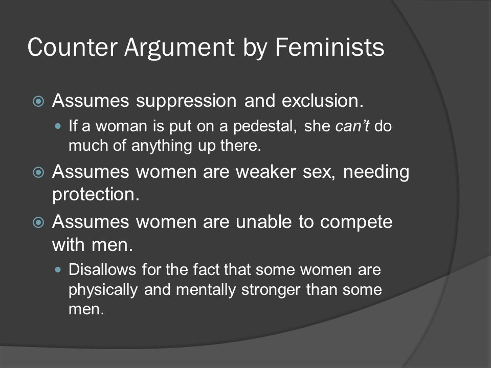 Counter Argument by Feminists