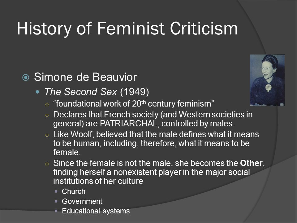 History of Feminist Criticism