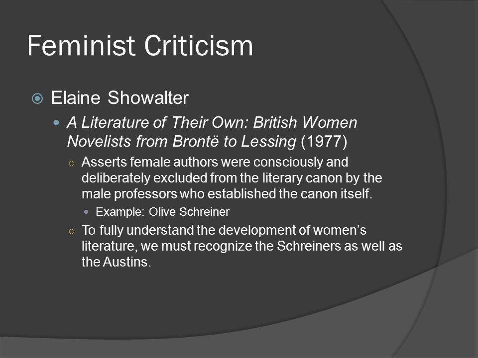 Feminist Criticism Elaine Showalter