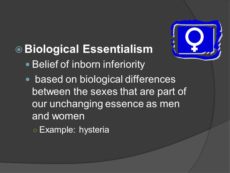 Biological Essentialism