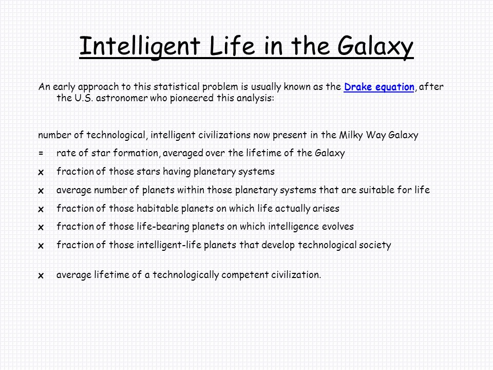 Intelligent Life in the Galaxy