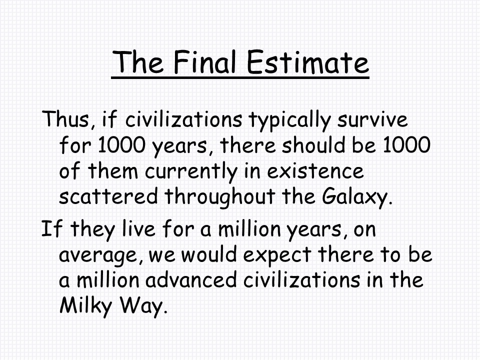 The Final Estimate