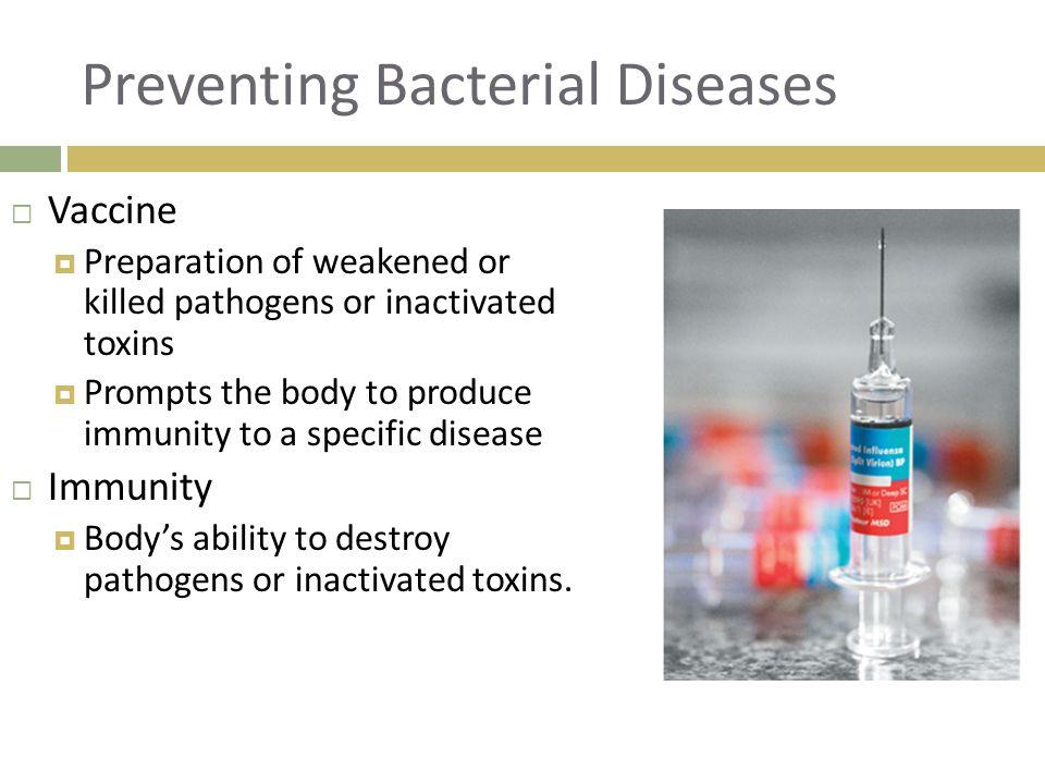 Preventing Bacterial Diseases