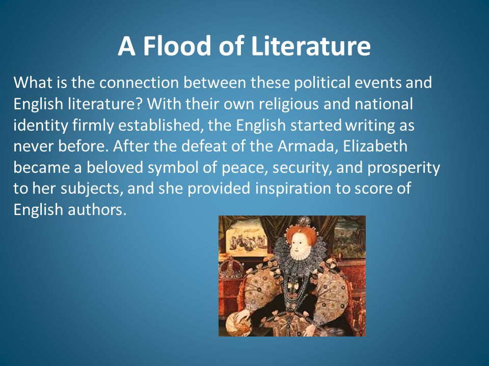 A Flood of Literature