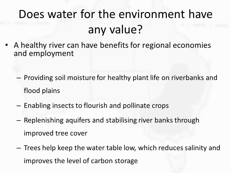 Does water for the environment have any value