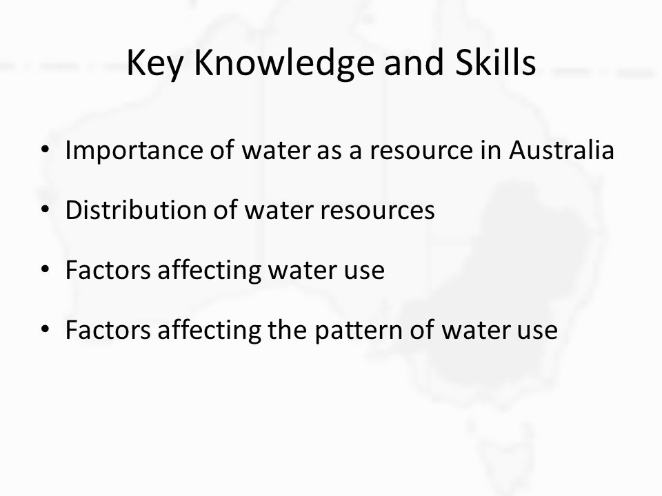 Key Knowledge and Skills