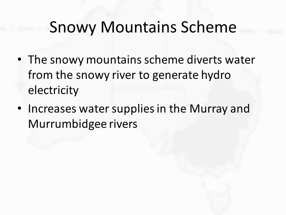 Snowy Mountains Scheme