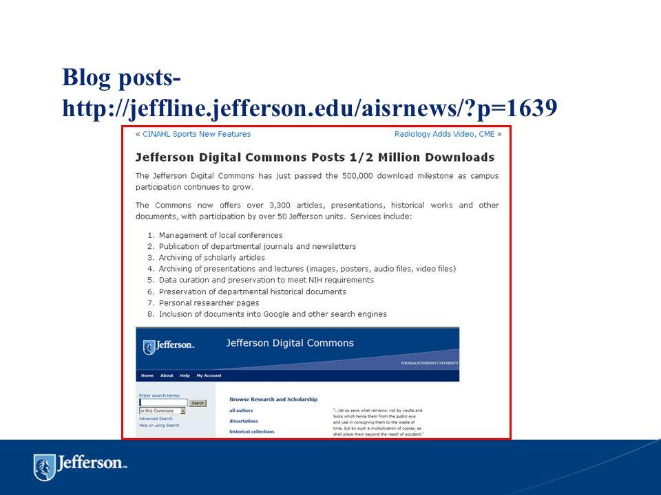Blog posts-http://jeffline.jefferson.edu/aisrnews/ p=1639
