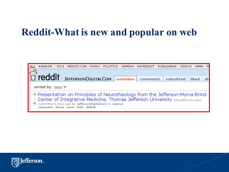 Reddit-What is new and popular on web