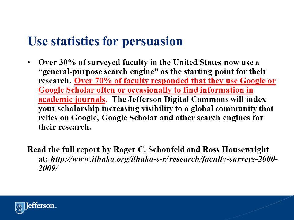Use statistics for persuasion