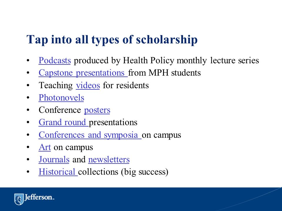 Tap into all types of scholarship