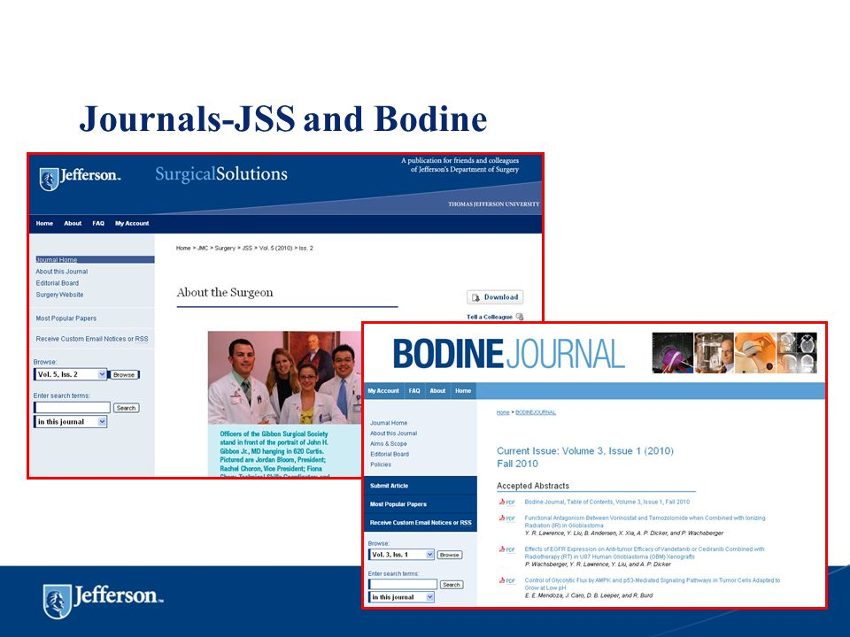 Journals-JSS and Bodine