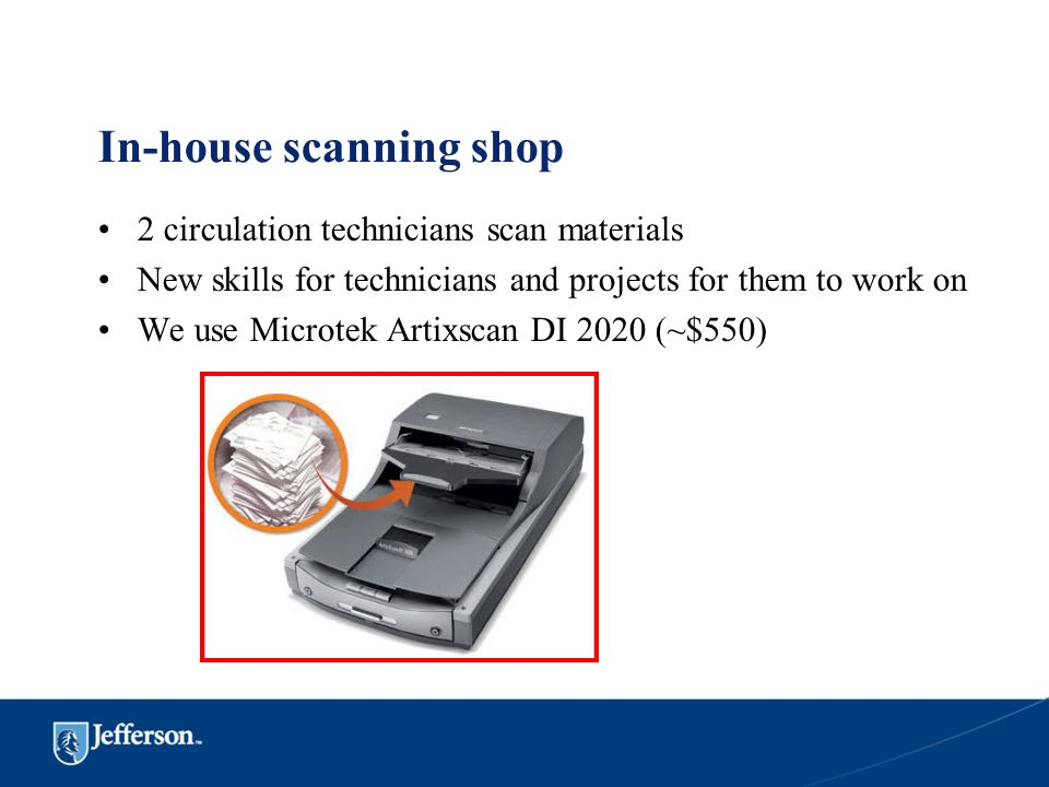 In-house scanning shop