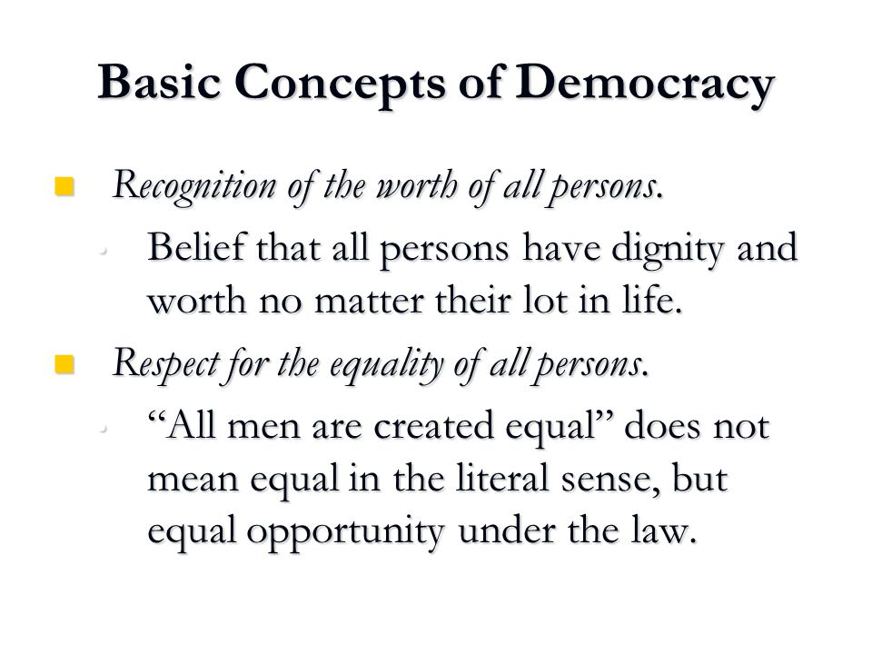 democracy is a matter of degree and equality Alexis de tocqueville's four-volume democracy in america (1835-1840) is  and  amplifies ('mimics') the dynamic openness of its subject matter: a way of life   equality is for him not the equal right of citizens to be different  these same  opponents of slavery were to some degree aware of a contradiction.