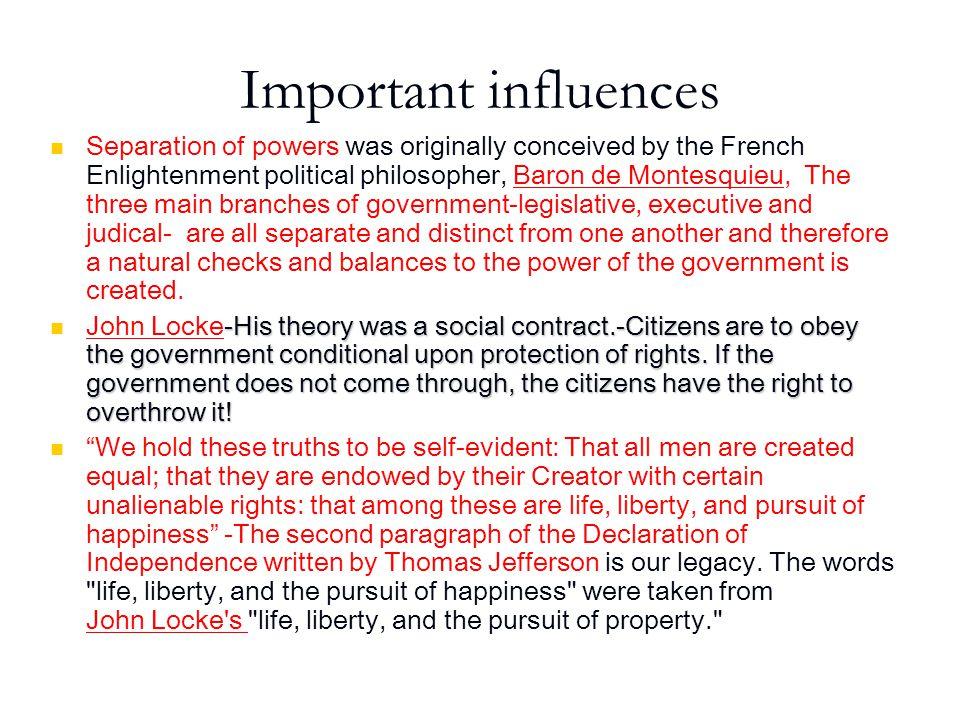 Important influences