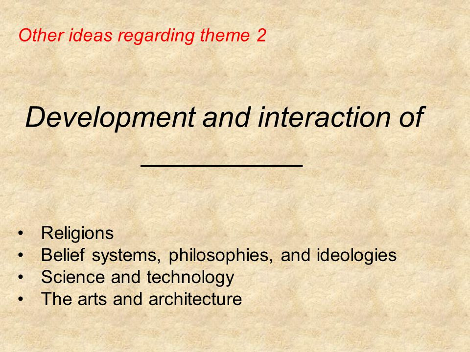 Development and interaction of __________