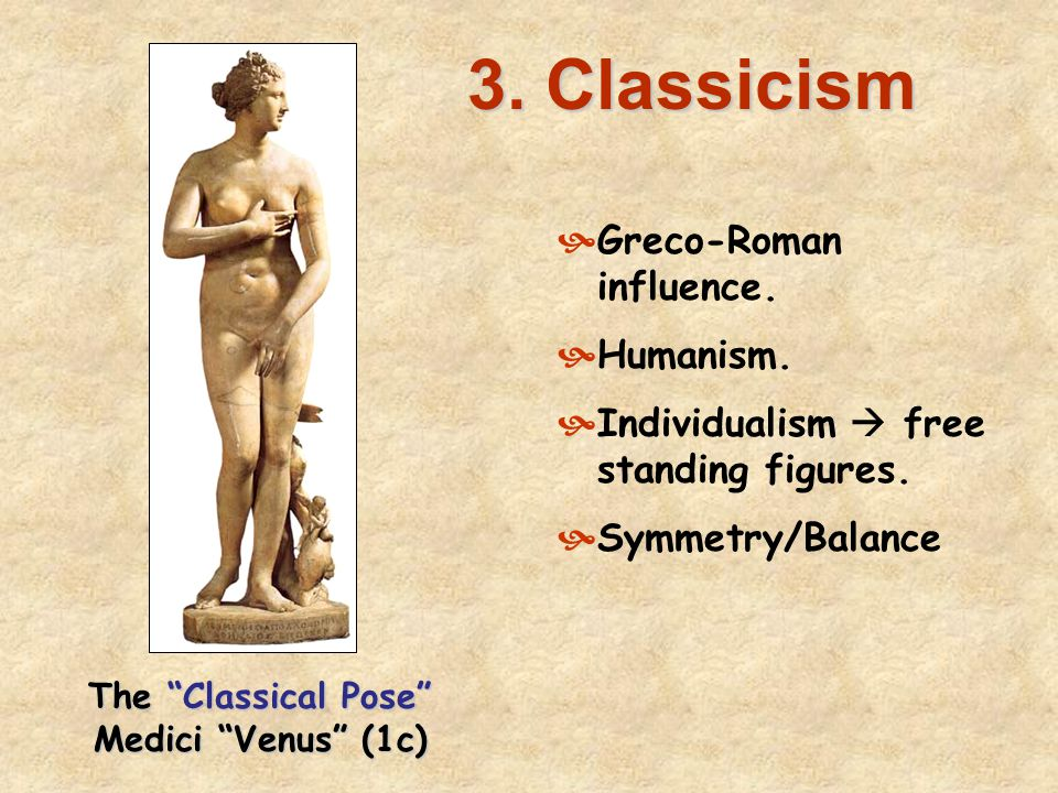 The Classical Pose Medici Venus (1c)