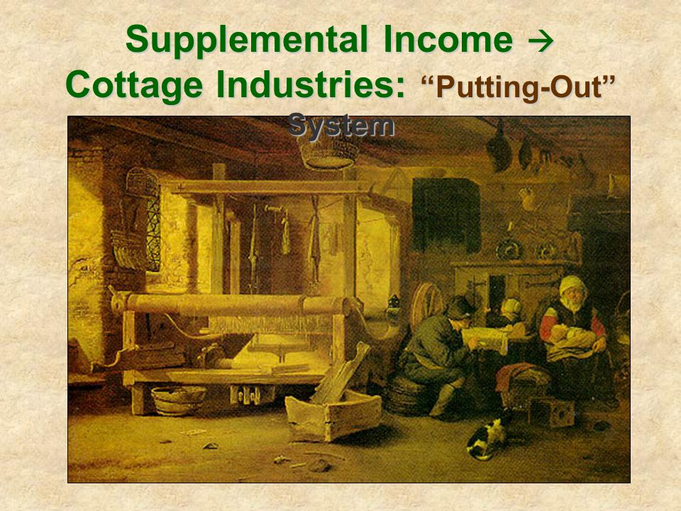 Supplemental Income  Cottage Industries: Putting-Out System
