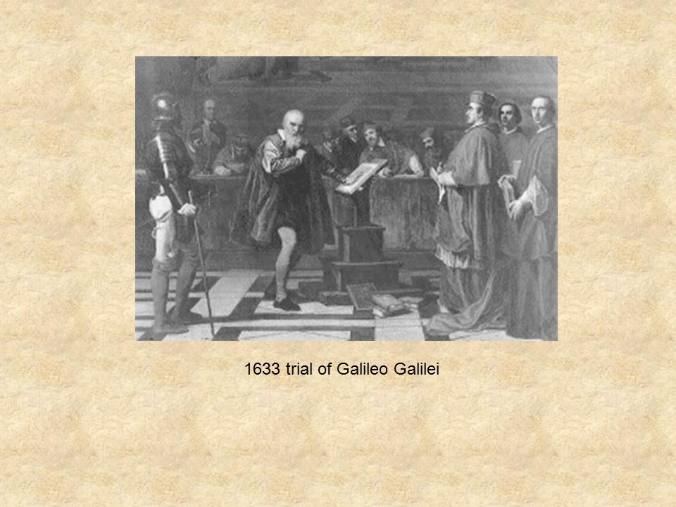 1633 trial of Galileo Galilei