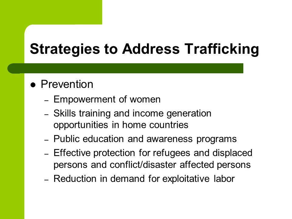 Strategies to Address Trafficking