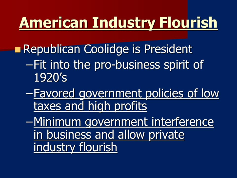 American Industry Flourish