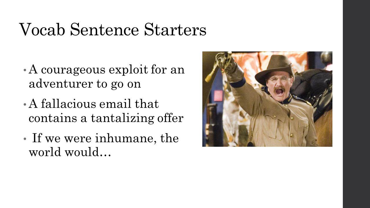 Vocab Sentence Starters