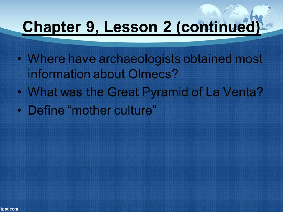 Chapter 9, Lesson 2 (continued)