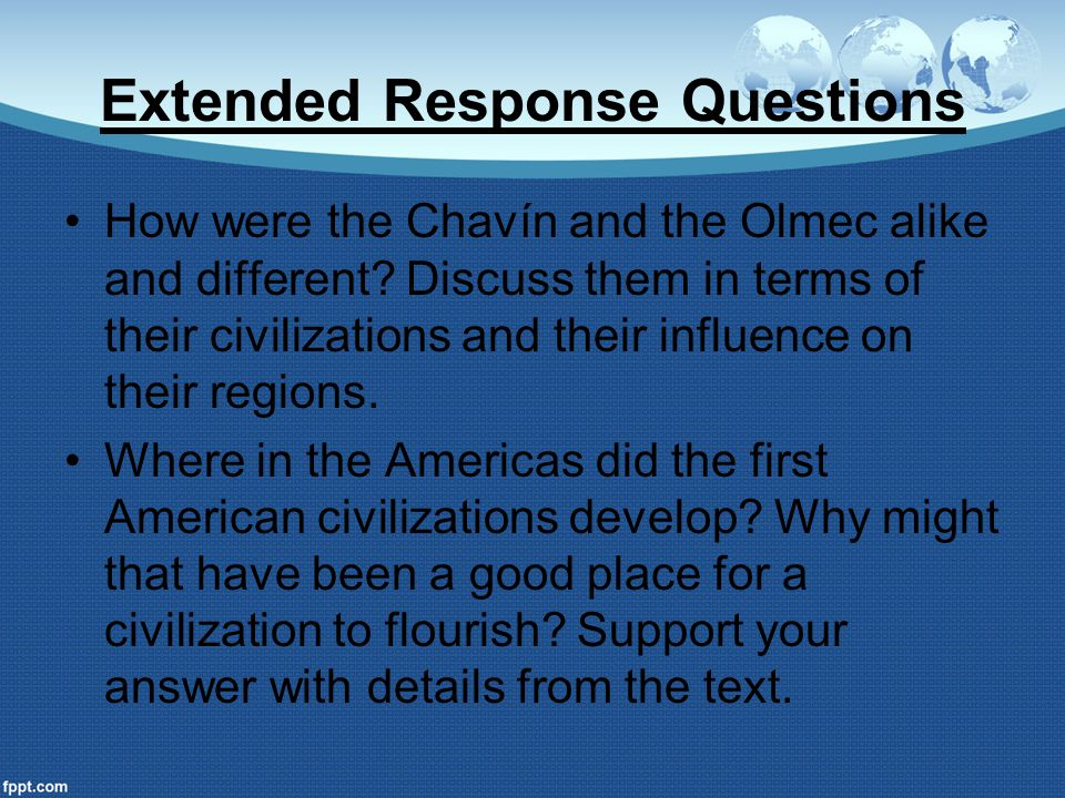 Extended Response Questions
