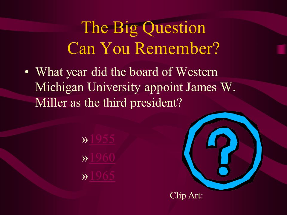The Big Question Can You Remember