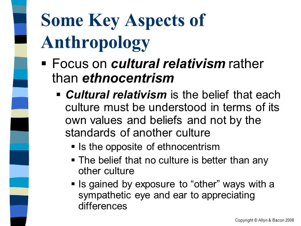 differences between ethnocentrism and cultural relativism Cultural relativism vs ethnocentrism cultural relativism and ethnocentrism are the two flip sides of one coin where both of these rather philosophical notions are intertwined.
