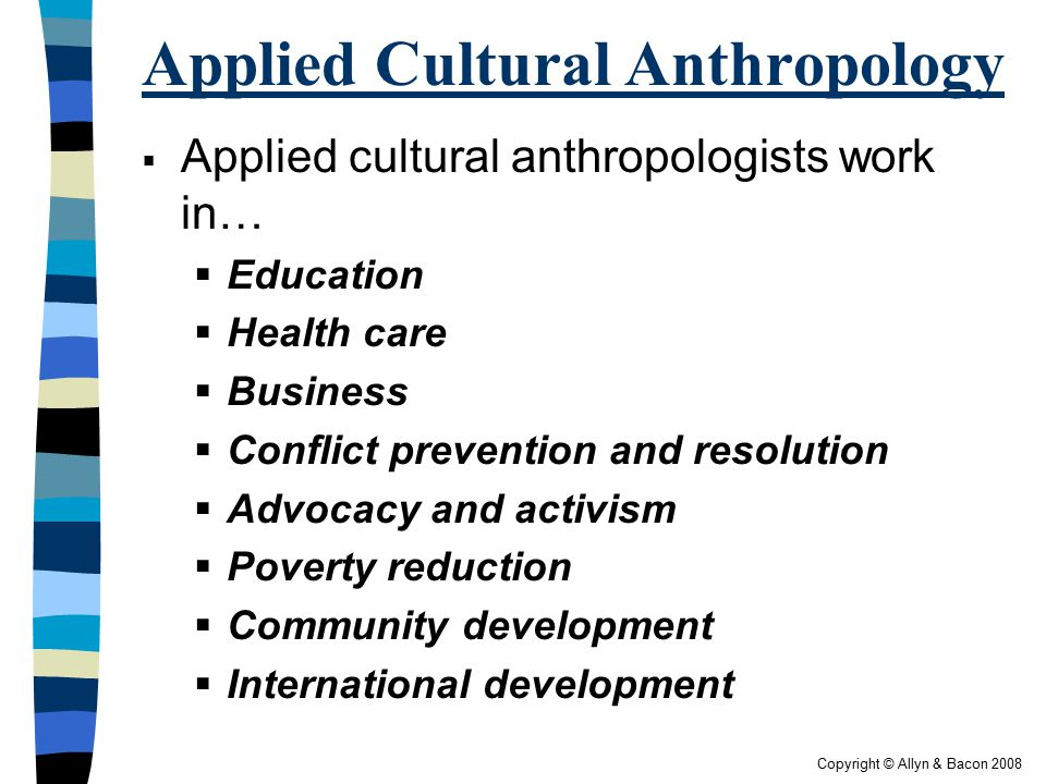 Applied Cultural Anthropology