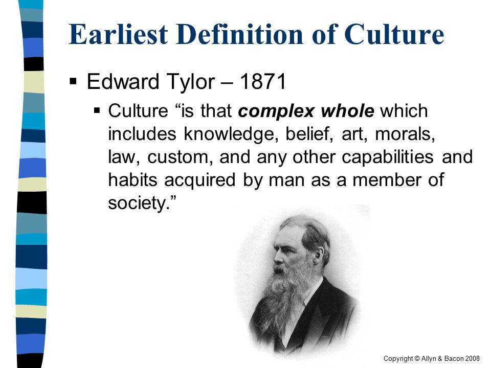 Earliest Definition of Culture