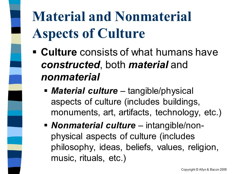 Material and Nonmaterial Aspects of Culture