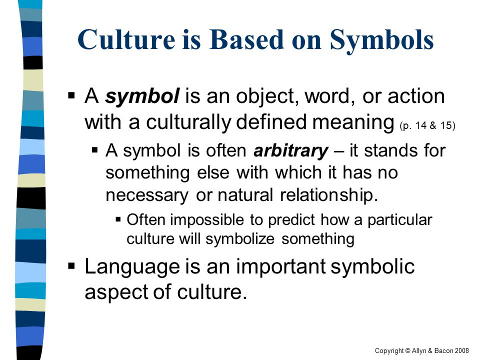 Culture is Based on Symbols