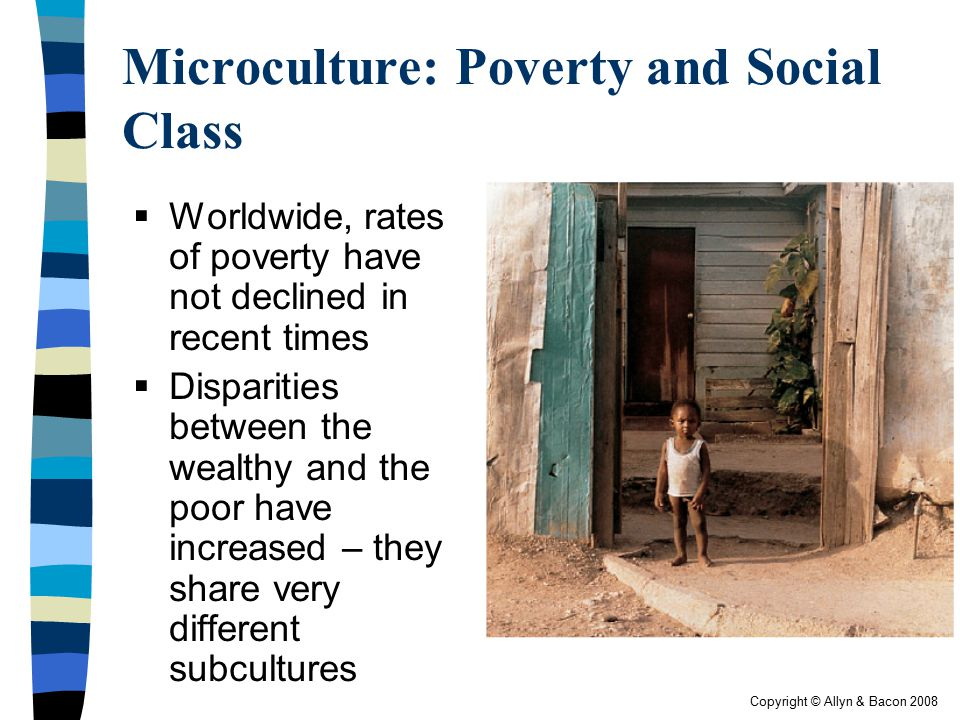 Microculture: Poverty and Social Class