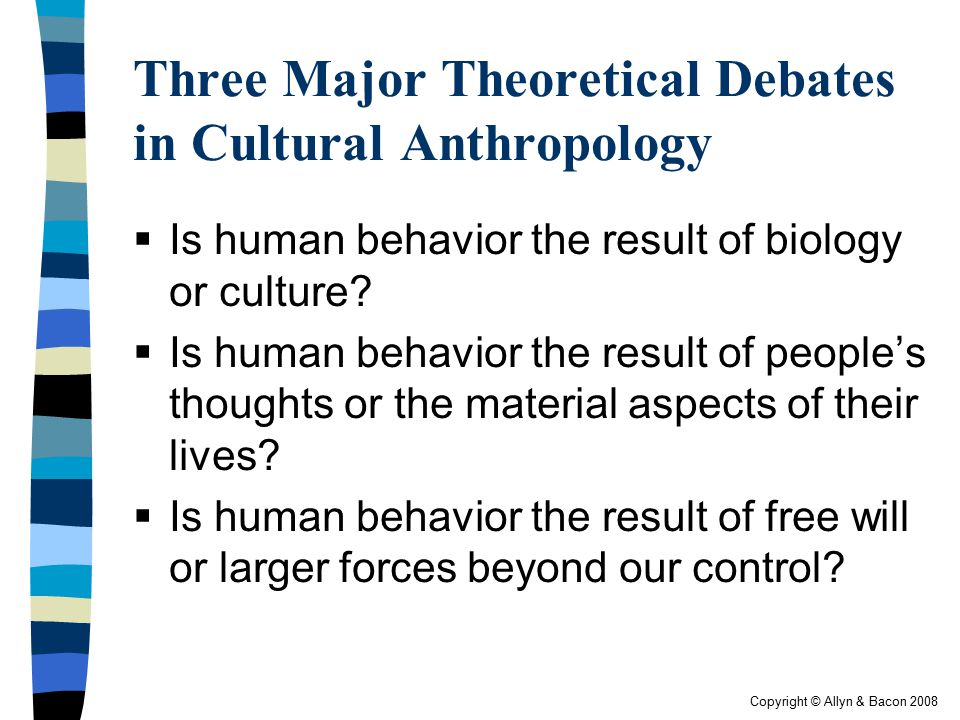 Three Major Theoretical Debates in Cultural Anthropology