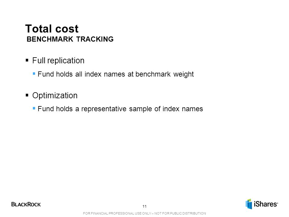Total cost Full replication Optimization BENCHMARK TRACKING