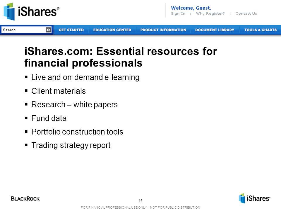 iShares.com: Essential resources for financial professionals