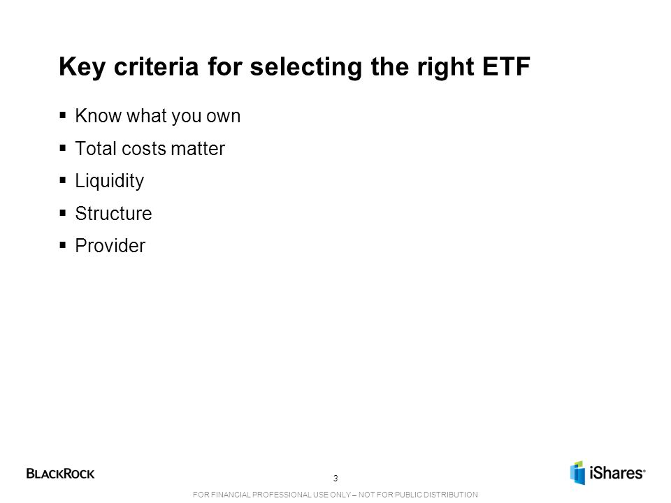 Key criteria for selecting the right ETF
