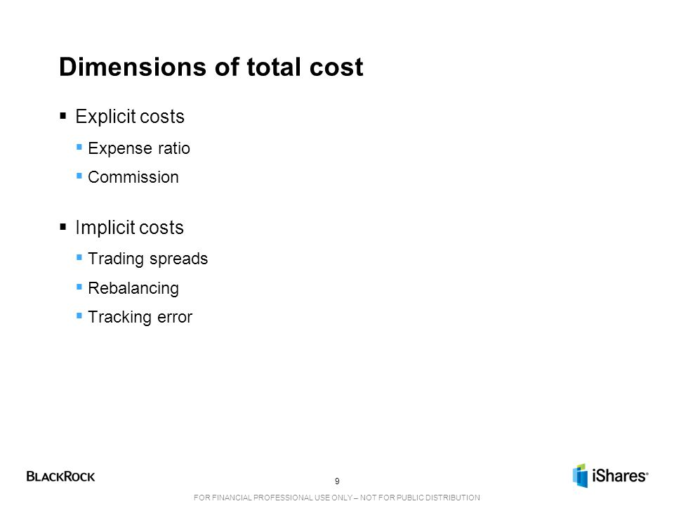 Dimensions of total cost