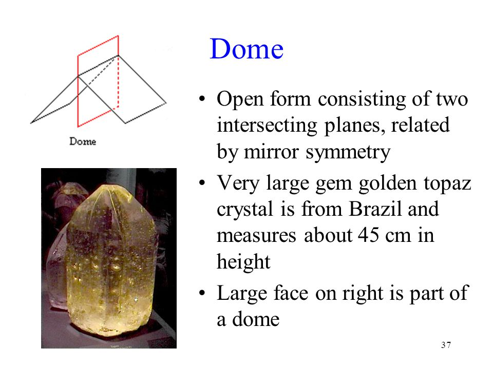 Dome Open form consisting of two intersecting planes, related by mirror symmetry.