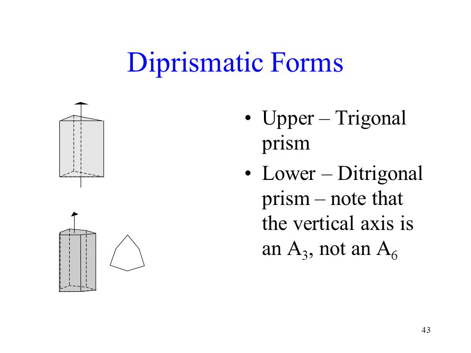 Diprismatic Forms Upper – Trigonal prism