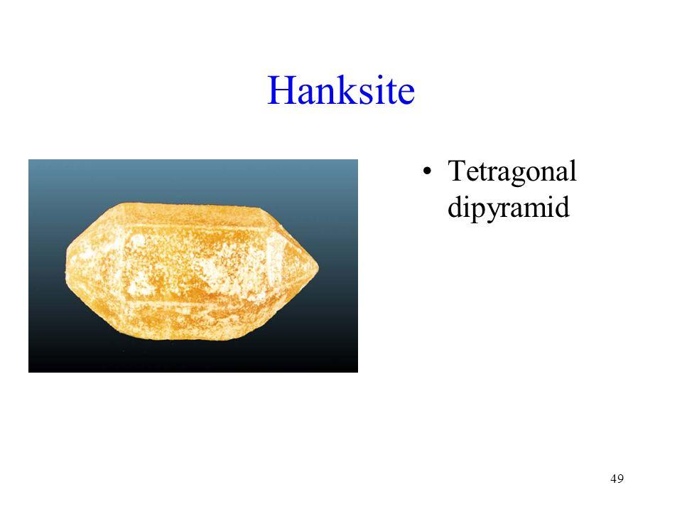 Hanksite Tetragonal dipyramid