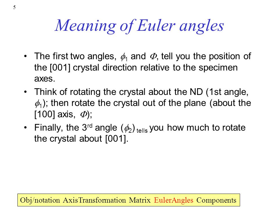 Meaning of Euler angles