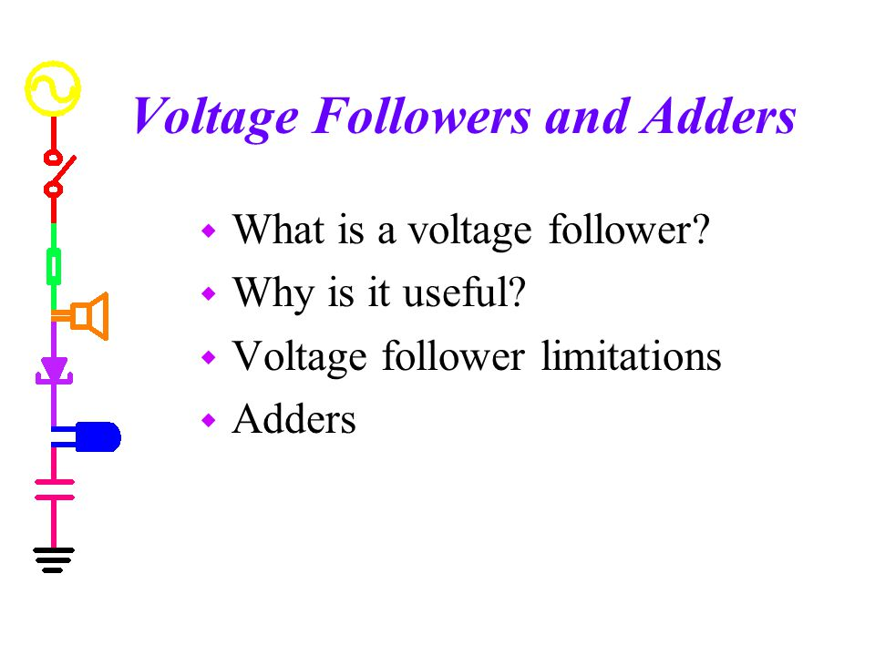 Voltage Followers and Adders
