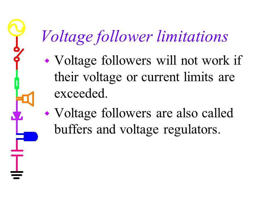 Voltage follower limitations