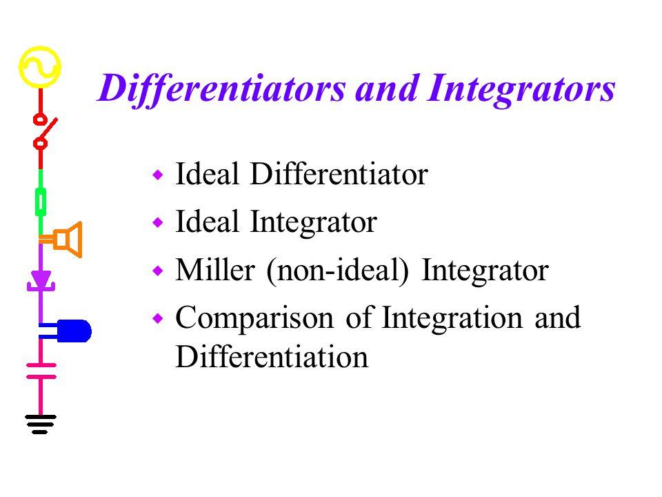 Differentiators and Integrators