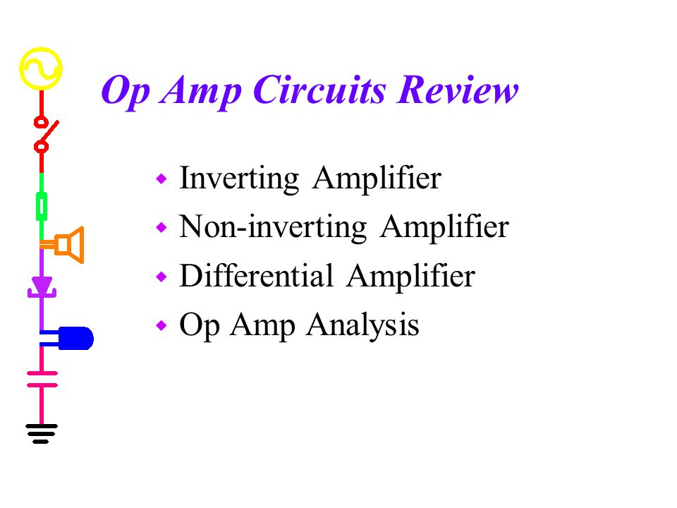 Op Amp Circuits Review Inverting Amplifier Non-inverting Amplifier