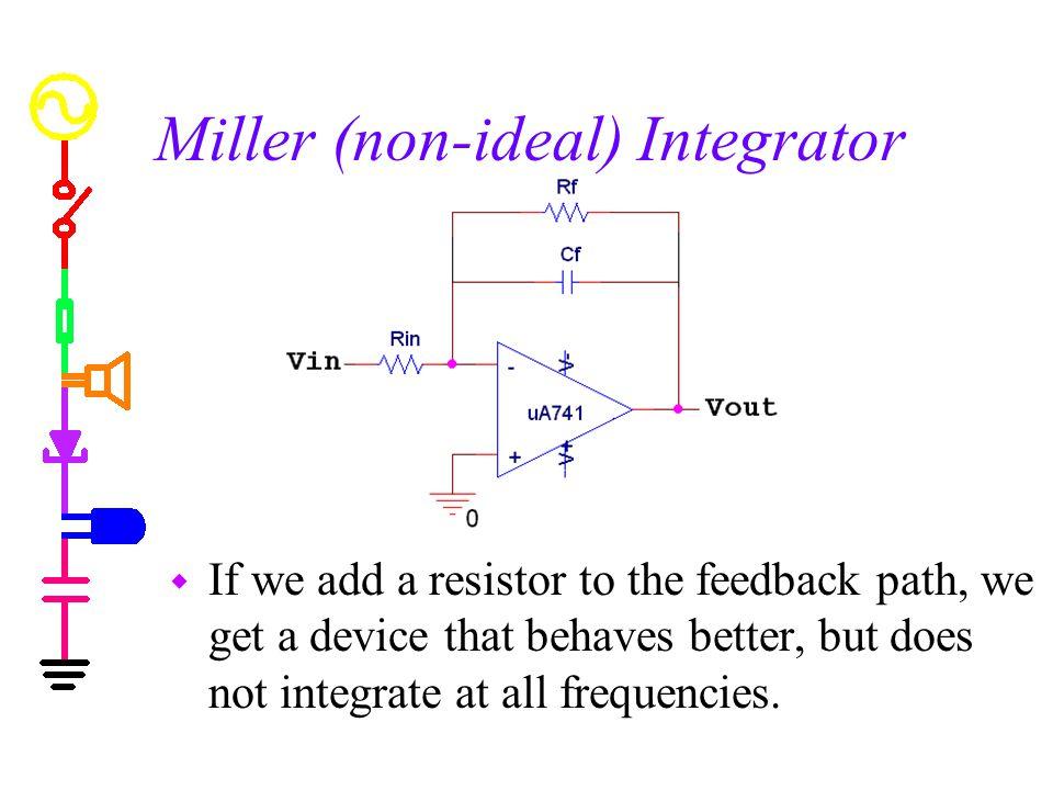 Miller (non-ideal) Integrator